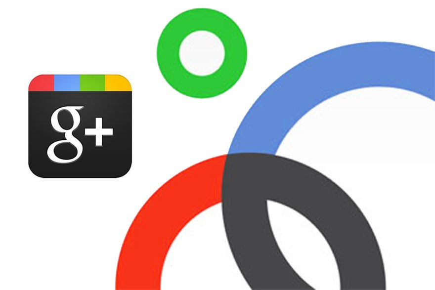 Google plus. Diseño web