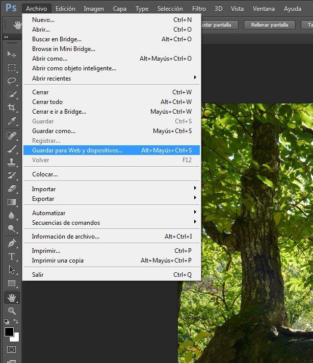 Optimización imágenes para diseño web