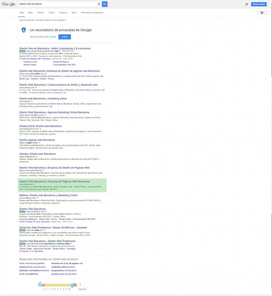 dipixel top 10 en google