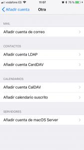 Añadir cuenta correo iphone ipad